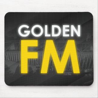 Mousepad Tapete do rato dourado de FM