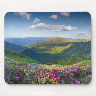 Mousepad Tapete do rato floral da paisagem da montanha
