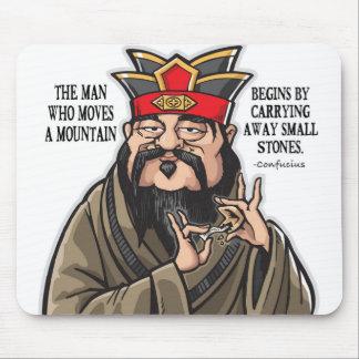 Mousepad Tapete do rato inspirado das citações de Confucius
