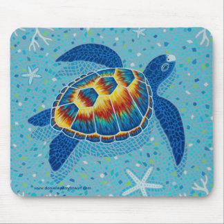 Mousepad Tartaruga de mar do mosaico