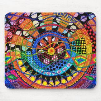 Mousepad - tema do espaço, design psychadelic