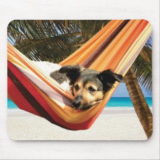 Mousepad Tempo da praia do cão