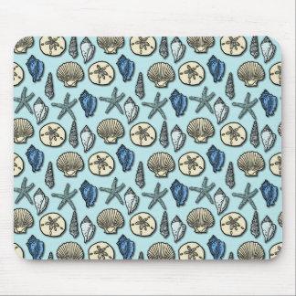 Mousepad Teste padrão azul bonito do mar da estrela do mar