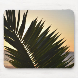 Mousepad tropical do por do sol