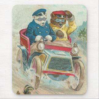 Mousepad Ursos do passeio da alegria do vintage
