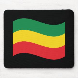 Mousepad Verde, ouro (amarelo) e bandeira das cores