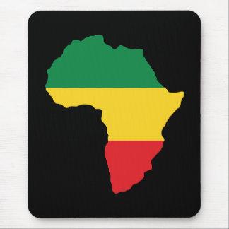 Mousepad Verde, ouro & bandeira vermelha de África