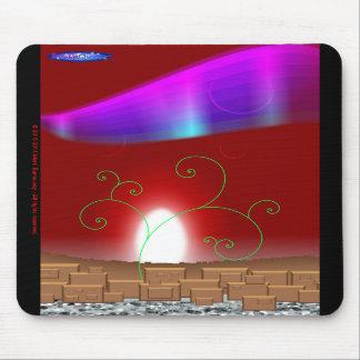 Mousepad vermelho da paisagem
