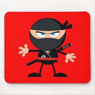 Mousepad Vermelho do guerreiro de Ninja dos desenhos animad