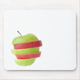 Mousepad Vermelho e maçã cortada verde