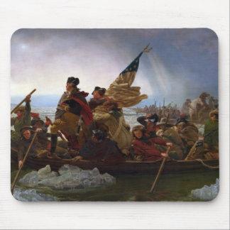 Mousepad Washington que cruza arte do vintage do Delaware -