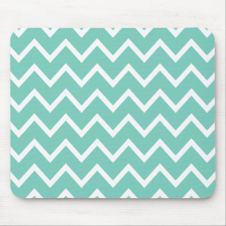 Mousepad Ziguezague Chevron de turquesa