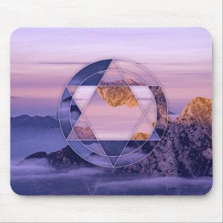 Mouspad abstrato da paisagem da montanha mouse pad