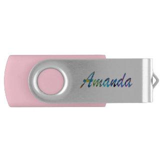 Movimentação do flash de Amanda USB Pen Drive Giratório
