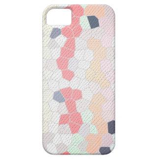 mozaico rosa y azul texturado iPhone 5 funda