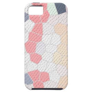 mozaico rosa y azul texturado iPhone 5 fundas