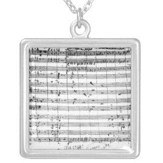Ms.1548 Ouverture da ópera 'Don Giovanni Colar Banhado A Prata