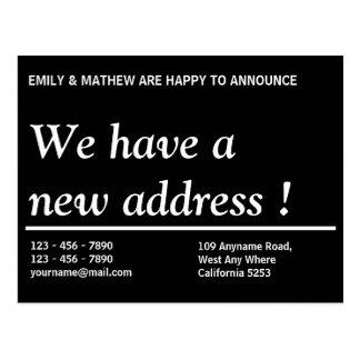 Mudança da mudança | do endereço do endereço novo cartão postal