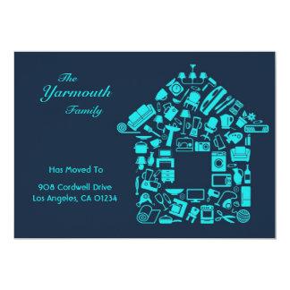 Mudança do anúncio liso do cartão de endereço convite 12.7 x 17.78cm