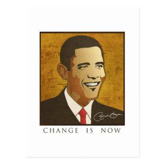 Mude é agora - Barack Obama Cartão Postal