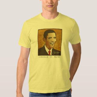 Mude é agora - Barack Obama Tshirt