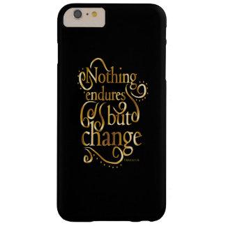 Mude o ouro inspirador das citações no preto capas iPhone 6 plus barely there