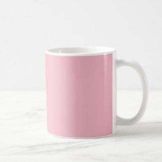MUG COFFEE FIRST - BRANCO SOBRE ROSA CANECA DE CAFÉ