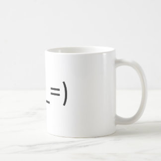 """Mug with Eastern emoticon for """"tired"""