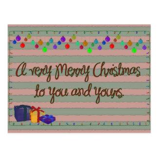 Muito Feliz Natal Cartão Postal