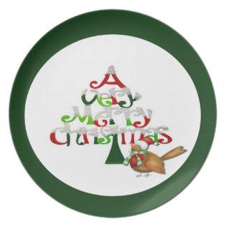Muito Feliz Natal Pratos De Festas
