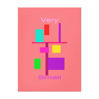 Muito pequeno impressão em tela canvas