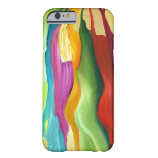 Muito pintura abstrata do colorfull capa barely there para iPhone 6
