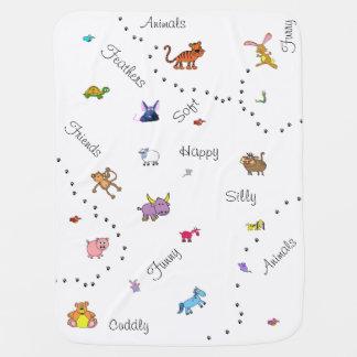 Muitos animais parvos cobertorzinhos para bebe