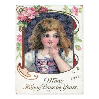 Muitos dias felizes sejam seus cartão postal