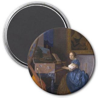 Mulher assentada em um Virginal por Vermeer Ima