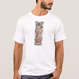 mulher branca do champanhe da estrela do art deco t-shirts