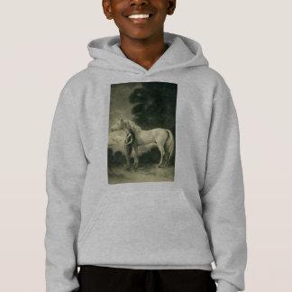 Mulher com cavalo branco tshirts