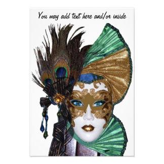 Mulher Convite-Bonita do carnaval na máscara
