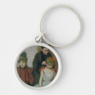 Mulher de Edgar Degas | com duas meninas Chaveiro