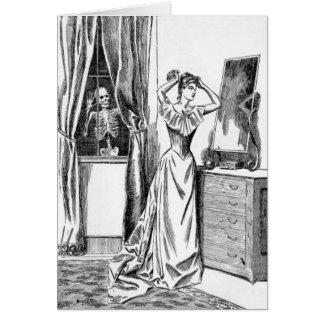 Mulher de esqueleto do Victorian do monstro do Cartão Comemorativo