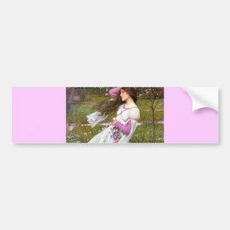 Mulher descalça na pintura do vento adesivo de para-choque