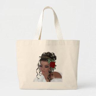 Mulher do afro-americano bolsas de lona