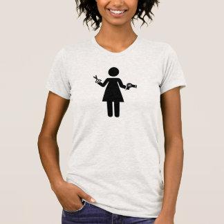 Mulher do cabeleireiro t-shirt