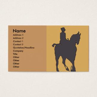 Mulher e cavalo do vintage cartão de visitas