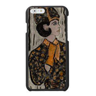 Mulher em preto e na laranja capa carteira incipio watson™ para iPhone 6