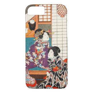 Mulher japonesa Maiko da senhora da gueixa da Capa iPhone 7