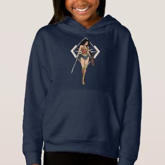Mulher maravilha com arte cómica da espada t-shirts
