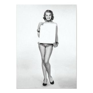 Mulher na pele convite 12.7 x 17.78cm