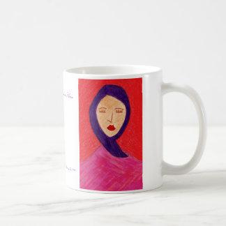 Mulher no silêncio caneca de café