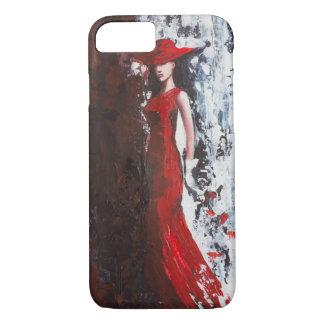 Mulher no vermelho capa iPhone 7